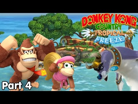 Slim Plays DKC: Tropical Freeze - #4. Seel Sliding Action