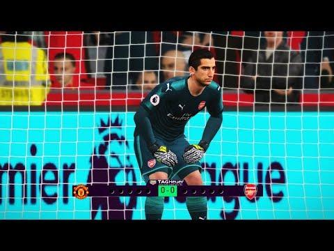 Goalkeeper A. Sanchez Vs Goalkeeper H. Mkhitaryan - Man Utd Vs Arsenal - Penalty Shootout PES