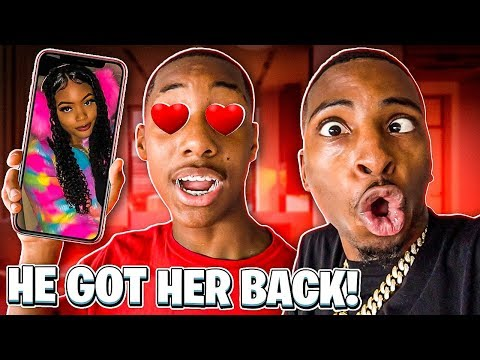 MY LIL BROTHER GOT HIS CRUSH BACK!❤️(THEY GOING ON A DATE)