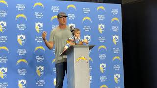 Chargers QB Philip Rivers with Baby