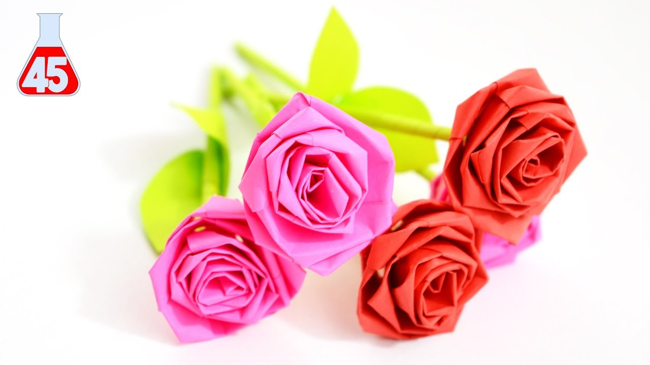 Come Fare Una Rosa Di Carta Semplice Origami Rose Tutorial Youtube