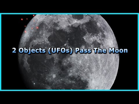 Two Objects (UFOs) Filmed & Possible Lunar Wave