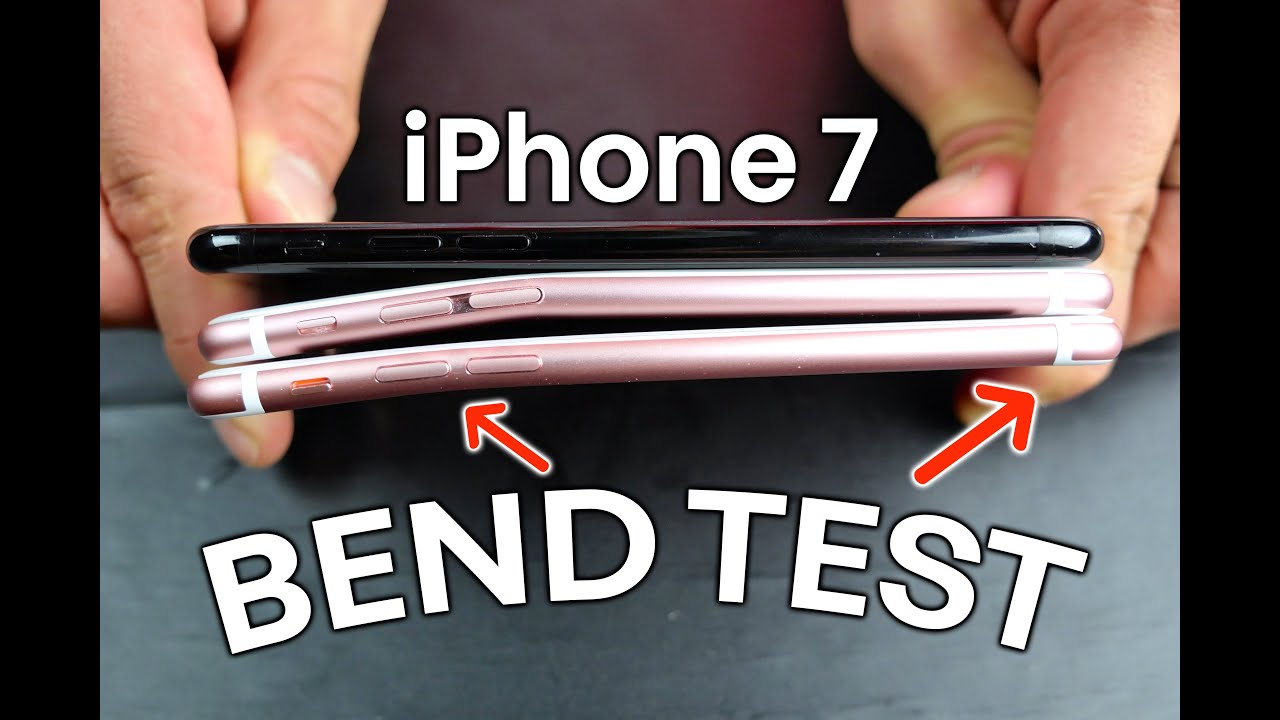 iphone 7 vs 6s bend test youtube. Black Bedroom Furniture Sets. Home Design Ideas