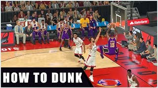 NBA 2K20 how to dunk