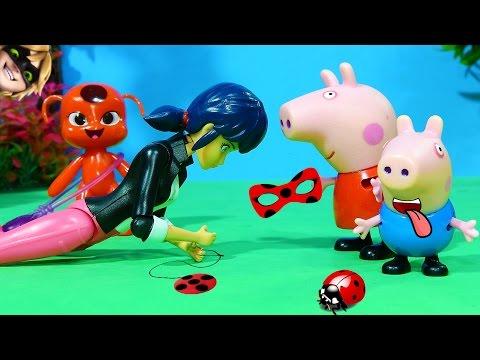 Peppa Pig e Pig George Descobrem Quem é a Ladybug - Miraculous episódio completo!