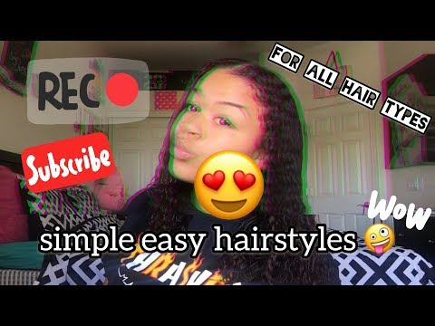 Simple Easy Curly Hairstyles || @mxneyjaee