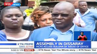 Chaos at Kakamega County Assembly as irate MCAs remove Speaker Morris Buluma