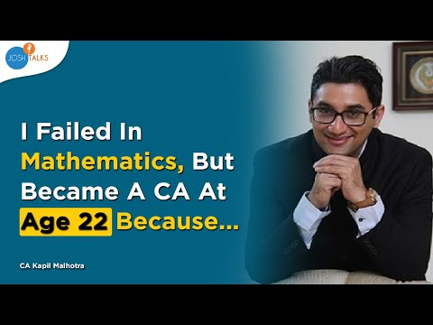 Every CA Aspirant Must Follow This Mantra | CA Kapil Malhotra | Josh Talks