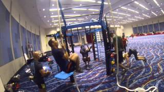 Group functional training workout with the MoveStrong NOVA FTS