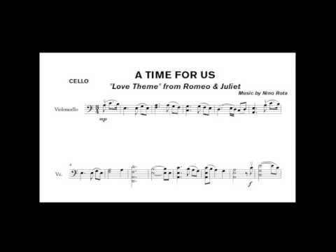 Nino Rota  A time for us from Romeo & Juliet  for cello solo