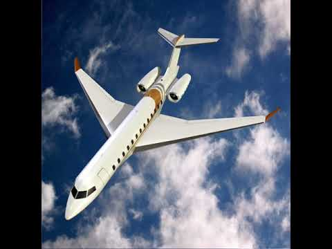 3D Model of Bombardier global 8000 private jet