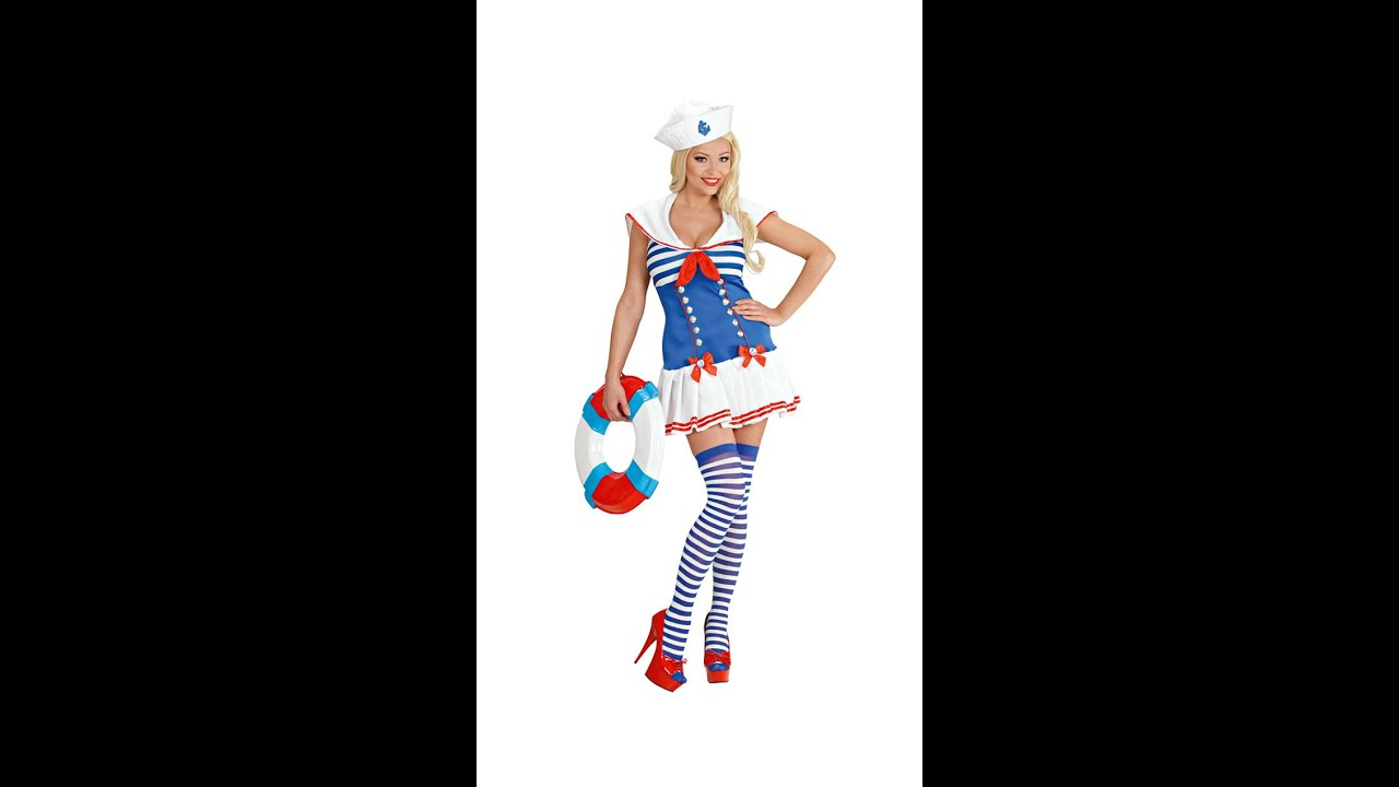 8966 -  SAILOR GIRL  (dress hat)  sc 1 st  YouTube : sailor girl halloween costumes  - Germanpascual.Com