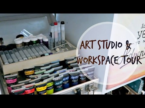Art Studio || Workspace Tour || 2017