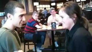 Mahdi Gilbert macks waitress with mentalism