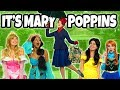 DISNEY PRINCESSES SAVED BY MARY POPPINS. (Mary Poppins Returns Movie Parody) Totally TV