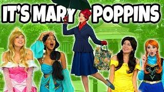 DISNEY PRINCESSES SAVED BY MARY POPPINS. (Mary Poppins Returns Movie Parody) Totally TV