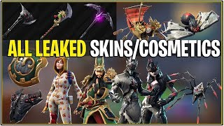 *NEW* Fortnite: ALL LEAKED BRAND NEW SKINS/COSMETICS! | (Spider Skins, Durr PJ's and More!)