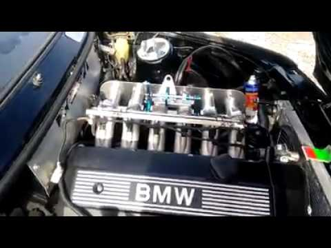bmw e30 swap m54b30 setup rhd itb kit frist start youtube. Black Bedroom Furniture Sets. Home Design Ideas