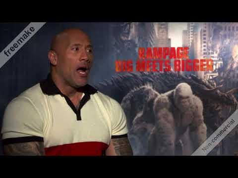 Interview de Dwayne Johnson pour Rampage: Hors de contrôle