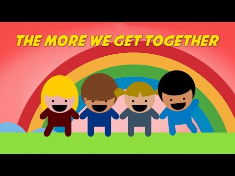 The More We Get Together | Free Nursery Rhyme Karaoke with Lyrics