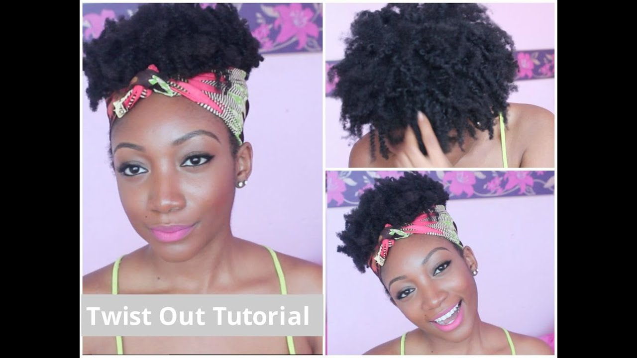 Quot Messy Quot Twist Out Tutorial 4c Natural Hair Youtube