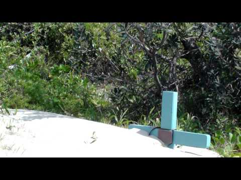 Memorial Cross Buried By Sand Dune