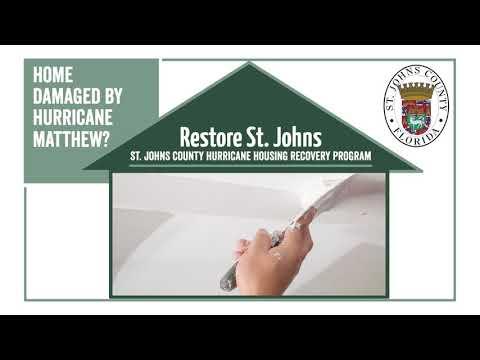 None - New Hurricane Matthew Housing Recovery Program Launching in January 2019