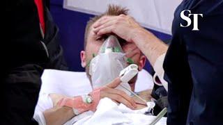 Football: Denmark's Eriksen 'awake' in hospital after collapsing at Euro 2020