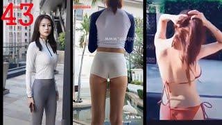 #043 틱톡 미녀 길거리 핫한 섹시 패션 (레깅스 스…