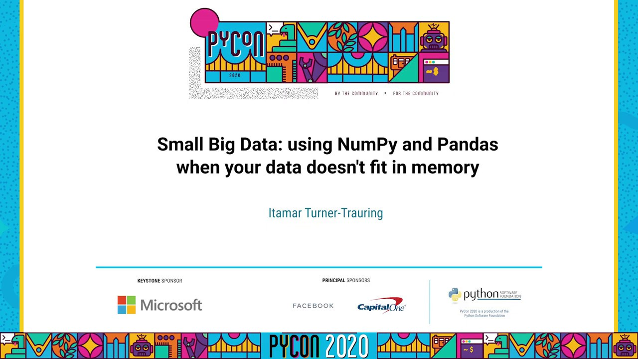 Image from Small Big Data: using NumPy and Pandas when your data doesn't fit ...