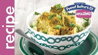 Peanut Butter Green Curry Baked Tofu Recipe