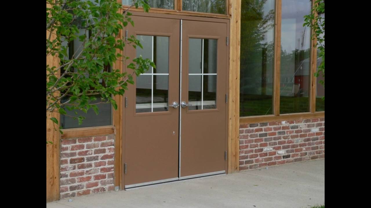 commercial steel entry doors - YouTube