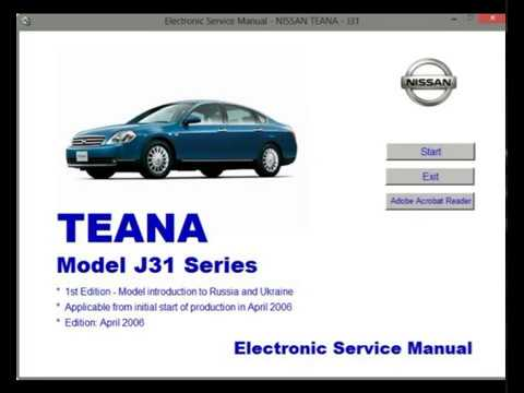 nissan teana j31 workshop service repair manual youtube rh youtube com 2012 Nissan Rogue Factory Service Manual Nissan Repair Manual