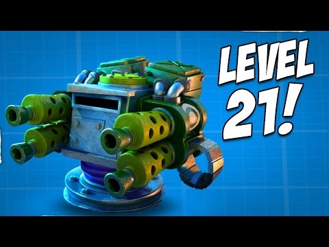 32000 DIAMONDS = MACHINE GUNS MAXED! Boom Beach Buying New HQ 21 Update!