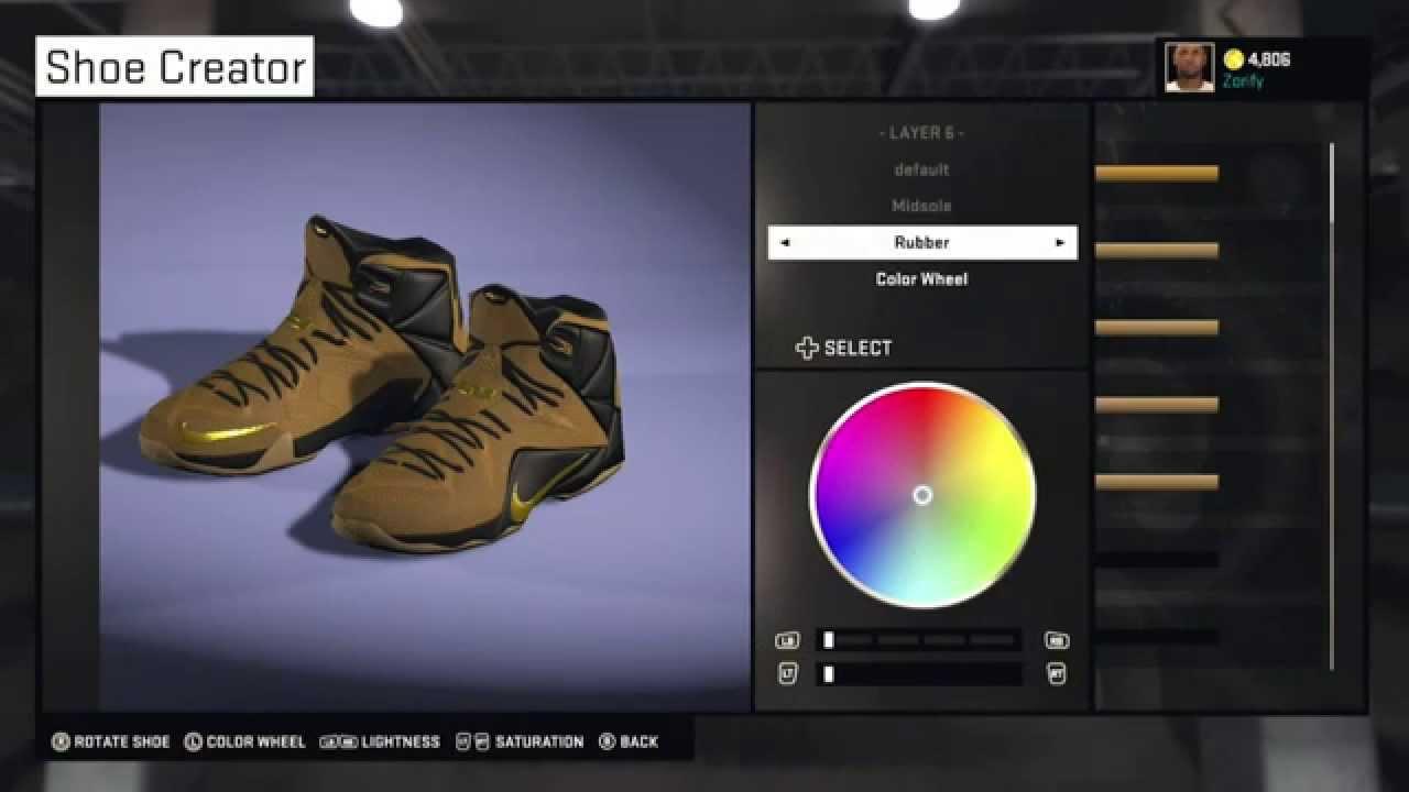 c7e35f37b6b NBA 2K15 Shoe Creator - Nike LeBron 12 EXT