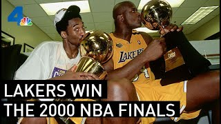 Lakers and Los Angeles Celebrate Winning the 2000 NBA Finals  | From the Archives | NBCLA