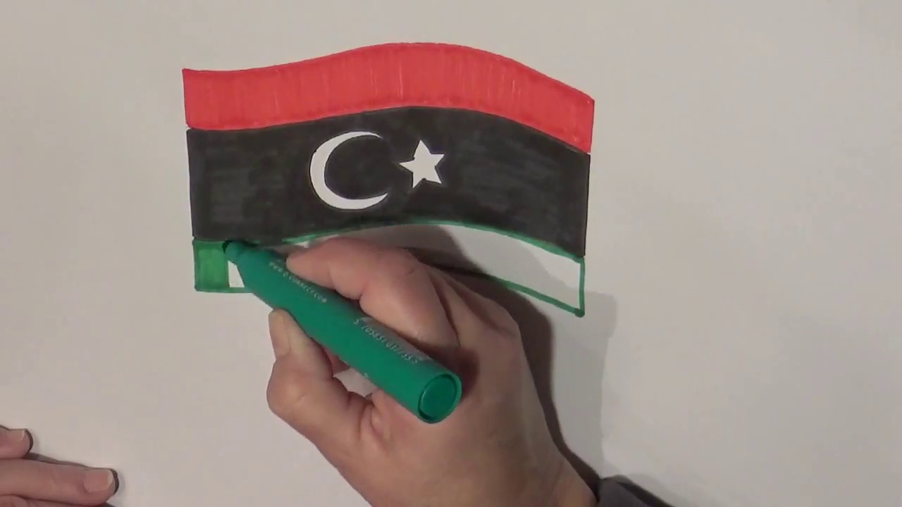 Learn geography for kids how to draw a flag libya