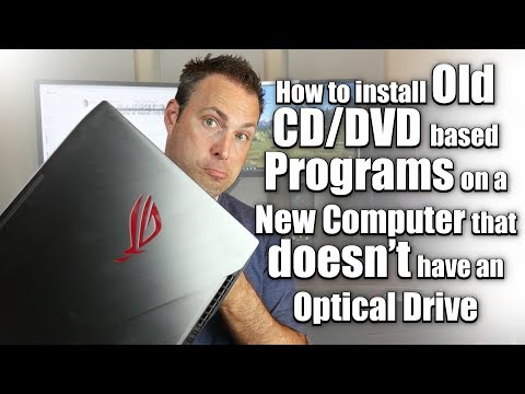 How to Install Old Programs to a New Computer without an Optical Drive (CD/DVD/Blu-Ray Drive)