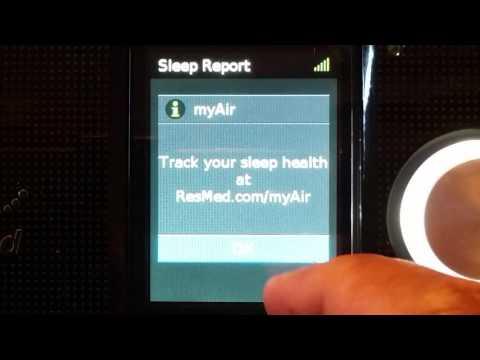 Resmed CPAP AirSense 10 Autoset - MyAir App