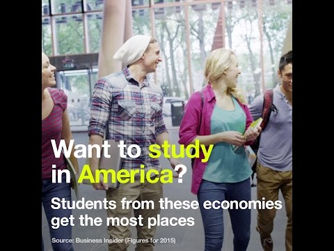 Want to study in America   Students from these economies get the most places