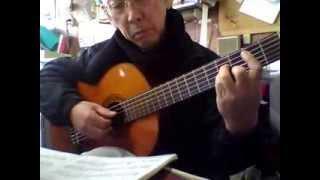 ギター 川の流れのように kawa no nagare no youni