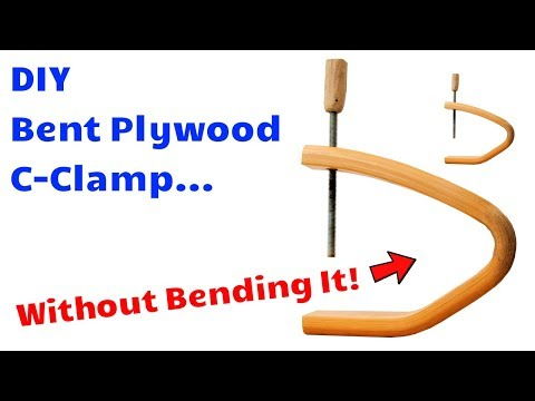 DIY Huge Bent Plywood Long Reach C-Clamps WITHOUT Bending Plywood! (You're never going to guess!)
