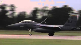 U.S. Air Force F-15E Strike Eagles Return to Seymour Johnson AFB