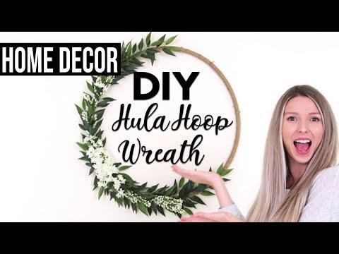 DIY HULA HOOP WREATH | Home Decor + Party Decor