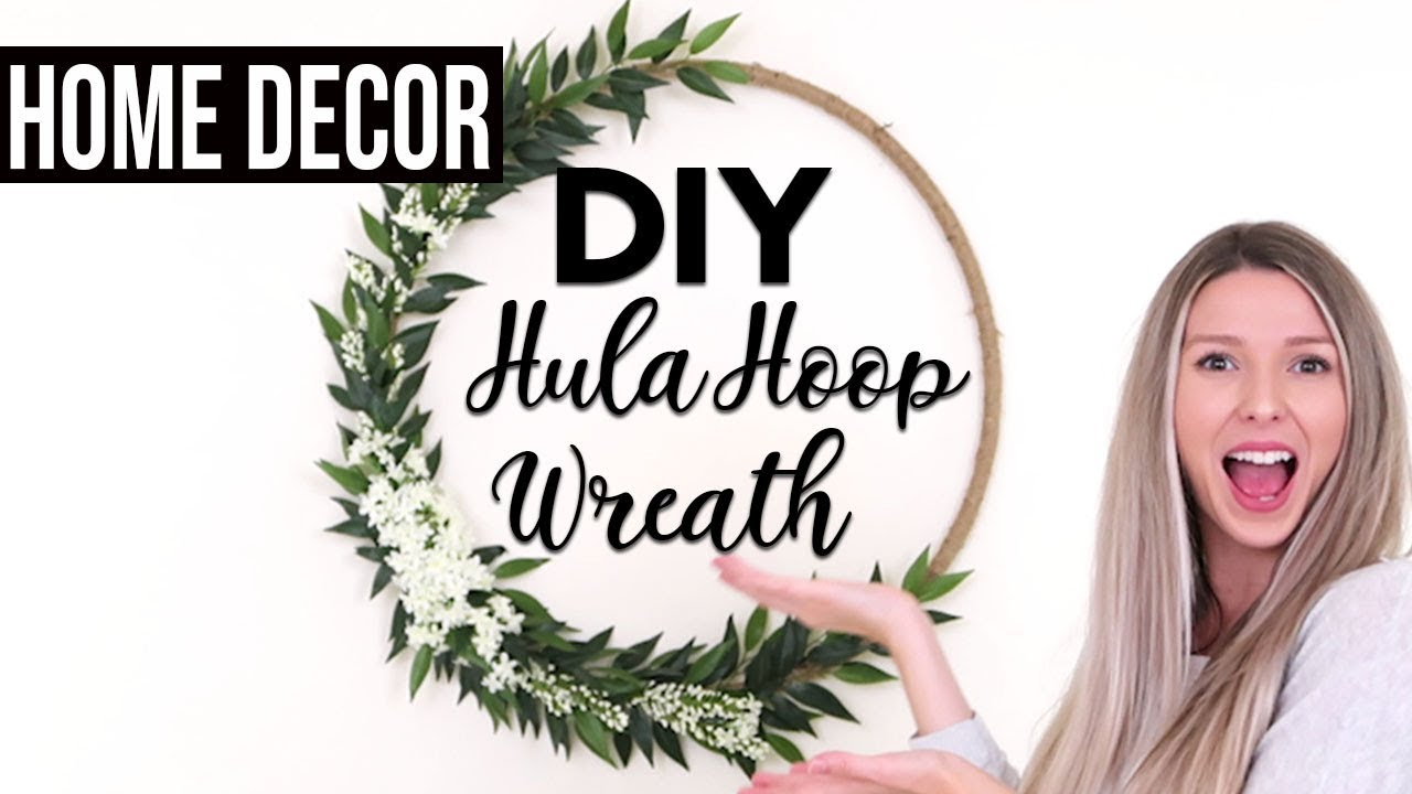 DIY HULA HOOP WREATH | Home Decor + Party Decor - YouTube