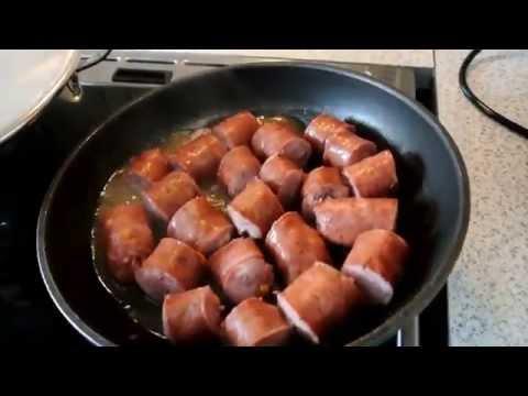 Макаронная запеканка с колбасой