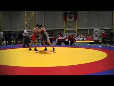 2014 Senior Greco-Roman National Championships: 130 kg Amir Bazrafshan vs. Korey Jarvis