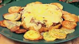 Горячие вторые блюда на НОВЫЙ ГОД 2016 новогоднее меню Вкусное филе рыбы осетр с сыром в духовке New