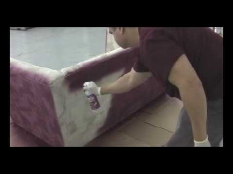 how to paint a couch or loveseat with fabric spray paint youtube. Black Bedroom Furniture Sets. Home Design Ideas