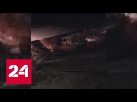 В ХМАО мост обрушился под грузовиком и краном: есть погибшие и раненые - Россия 24